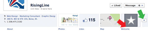 New Facebook Page Navigation Thumbnails