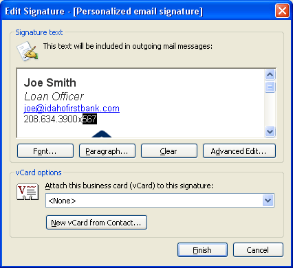 Download free how to create a signature template for for Outlook 2010 signature template